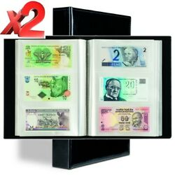 Banknotes Album Lighthouse Currency Collection Binder Paper Money Lot Of 2 Gift