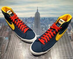 Nike iD By You Blazer Mid Snow Beach Navy Amarillo Red Mens Size 13 CW4649 992 $139.99