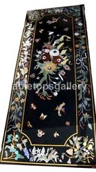 5and039x3and039 Marble Top Dining Table Precious Floral And Birds Inlaid Hallway Decor B547