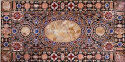 6and039x3and039 Marble Dining Table Tops Multi Stone Mosaic Art Inlay Hallway Decor B553a