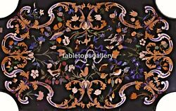 4and039x3and039 Marble Dining Table Tops Gemstone Marquetry Birds Inlay Living Decor B555
