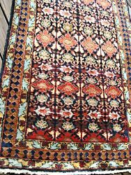 Antique Estate Find Per-sian 1910 Full Pile Long Rug With Great Colors