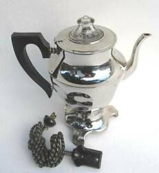 Vintage Hotpoint General Electric 6 Cups Coffee Percolator Chrome Complete
