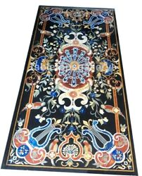 6and039x3and039 Pietra Dura Inlaid Birds Art Marble Top Dining Table Occasional Decor B616