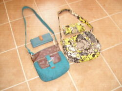 2 Crossbody Purses with Matching Wallets....Fossilamp;Vera Bradley...FREE SHIPPING $38.00