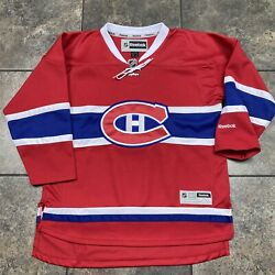 Kid's Reebok Nhl Montreal Canadiens Hockey Jersey Size Youth Large/xl