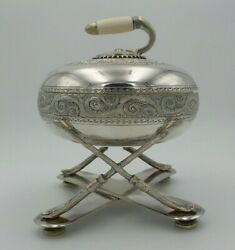 Beautiful Ornate Antique 1870s British Fenton Brothers Silverplate Curling Dish