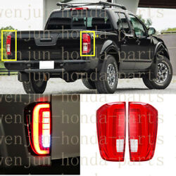 1 Pair Tail Brake Lights Assy Led Red Refit For Nissan Frontier / Navara 2017