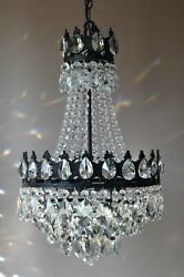 Antique Style French Lamp Crystal Chandelier Brass Kitchen Hallway Home Lighting