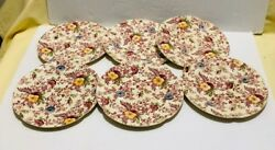 Old English Chintz Pattern Johnson Brother Set Of 6 Bread And Butter Plate 6 1/4