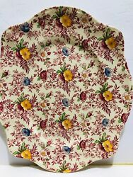 Old English Chintz Pattern Johnson Brothers Small Oval Serving Platter 12 X 10''