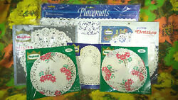 Fab Vintage Nos 6pc Collection Of Roylcraft, Royal Lace And Roylie Paper Doilies