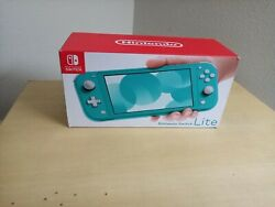 Nintendo Switch Lite Turquoise Handheld Video Game System Brand New In Box