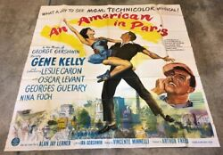 An American In Paris Six Sheet Movie Poster - Gene Kelly Hollywood Posters
