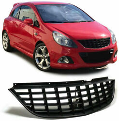 Sport Radiator Grill Without Emblem In Black Finish For Opel Corsa D 06-10