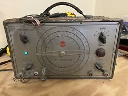 Vintage Rare 1940and039s Or 1950and039s Rca Test Oscillator Equipment Type 167-b W/ Cable