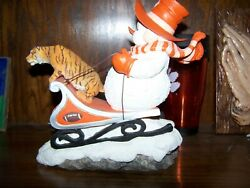 Clemson University Dashing Thru The Snow Special Edition Henry On Sled