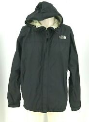 THE NORTH FACE MEN#x27;S LARGE BLACK FULL ZIP HOODED HYVENT 2.5L NYLON JACKET $29.74