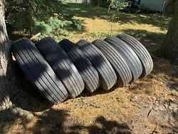 Seven Used Commercial Steering Tires Great For Trailer Use