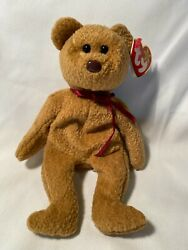 Rare Retired Curly Black Eyes - Brown Nose - Many Tag Errors - Mint Cond