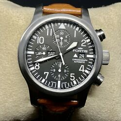 Gorge Fortis Flieger B42 Diver Automatic Chronograph Watch/day Date/maintenanced