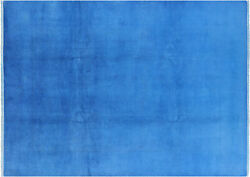 9and039 1 X 12and039 5 Hand Knotted Full Pile Overdyed Wool Rug - Pb4814