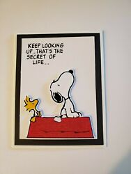 SNOOPY KEEP LOOKING UP... THAT#x27;S THE SECRET OF LIFE