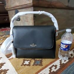 Kate Spade Miri Chester Street Genuine Leather Black Satchel Crossbody Bag $159.00