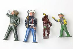 Vintage Barclay Lead Toy Pod Foot Soldier Sailor Indian With Rifle Etc Military