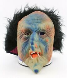 Vintage Halloween Mask Witch Monster, Purge, Fun World Creepy Horror Latex Old