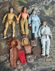 Vintage 1973 Lone Ranger Figure And Accessories Lot B2h