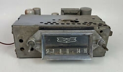57 Chevy Chevrolet Bel Air Delco 987573 Am Radio For Parts Or Repair
