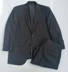 Mint Recent 3450  Charcoal Microcheck Trofeo Wool Suit 38 48