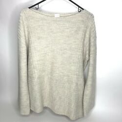 Poetry Baby Alpaca Cotton Scoop Neck Pullover Sweater Loose Knit Soft Women's 10 $48.97