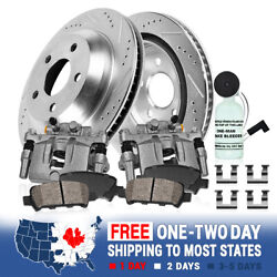 Rear Brake Calipers And Rotors Pads For 2000 - 2004 Ford F350 2wd 4x4 4wd Drw