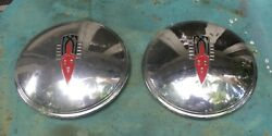 Two 1946-1947 Oldsmobile Dog Dish Hubcap 10 1/4 Od 7 3/4 Id