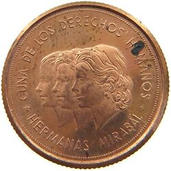 Dominican 100 Pesos 1983 Proof Copper Pattern 20mm 5g Rrr T84 155