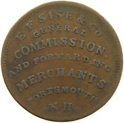United States Token 1837 E.f. Sise And Co. Importers Of Grocery T114 1055