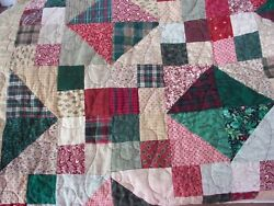 Quilt Handmade Machine Hand Stitched 82 X 95 Complete Farmhouse Bedcover