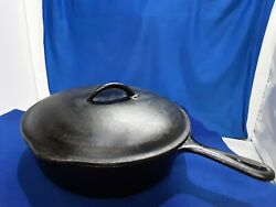 8 Cast Iron 10 5/8 Used Unmarked Bsr Wagner Griswold Lodge Pan/lid Dutch Oven