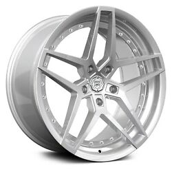 22 Lexani Wheels Spike Stagger Silver Rims Fit Challenger Bmw Audi Mercedes