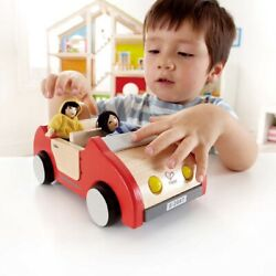 Hape Family Wooden Car For Boys And Girls 3 Years And Above