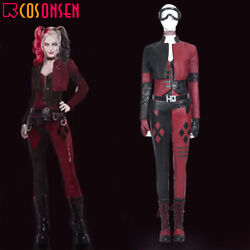 The Suicide Squad Harley Quinn Cosplay Costume Leather Deluxe Outfit Lot