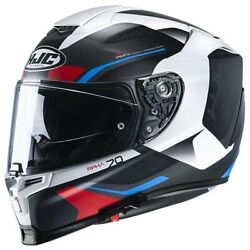 Motorcycle Helmet Integral Hjc Rpha 70 Kosis Mc21sf Red White Blue Size S