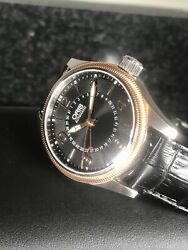 Oris Big Crown Pointer Date Rose Gold Black Guilloche Dial 40mm Swiss Automatic