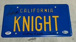 Knight Rider Signed License Plate David Hasselhoff And William Daniels Psa Bas