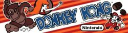 Donkey Kong Dedicated Arcade Marquee Andndash 22.3andprime X 5.8andprime Available In 26 X 8