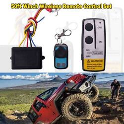 12volt 50ft Winch Wireless Remote Control Set For Truck Jeep Atv Warn Ramsey Kit