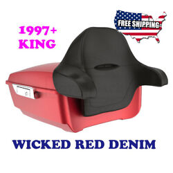 Us Stock Wicked Red Denim King Tour Pack Pak For 1997-2020 Harley Touring