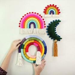 Rainbow Hanging Decor Macrame Home Decoration Accessorie Nordic Wall Ornaments K